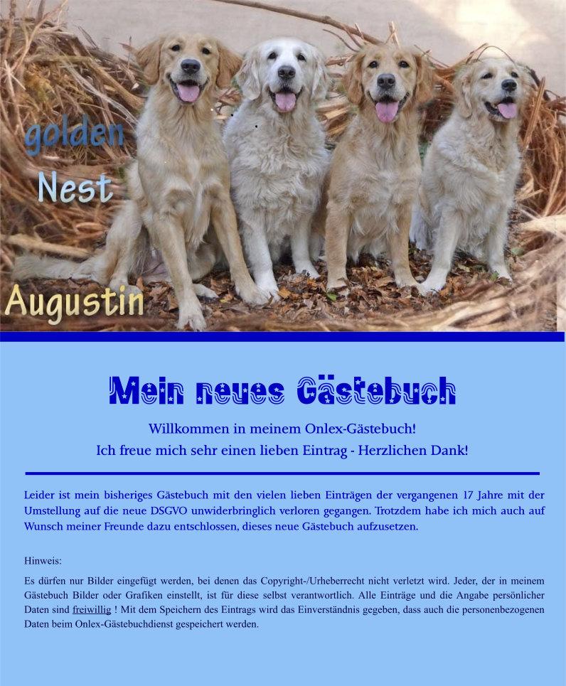 Gästebuch Banner - verlinkt mit http://hundezucht-augustin.de/menu-neu/mm-hauptseite.html